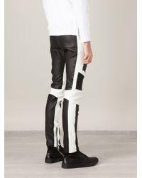 Balmain - Black Biker Track Trousers for Men - Lyst