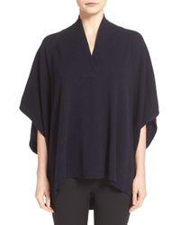 Vince | Blue Oversize Short Sleeve Pullover | Lyst