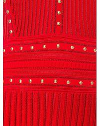 Roberto Cavalli Red Studded Knit Dress