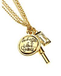 Diane von Furstenberg - Metallic Gold-plated Swarovski-crystal Pendant Necklace - Lyst