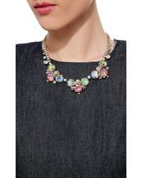 Carole Tanenbaum | Multicolor 1950S Alice Caviness Blush Pink And Aurora Borealis Cluster Necklace | Lyst