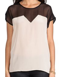 Sjobeck - Natural Deco Silk Blouse - Lyst