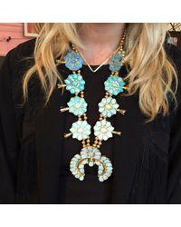 Doloris Petunia | Ombre Squash Blossom Necklace, Blue | Lyst
