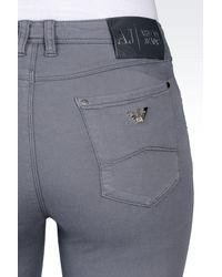 Armani Jeans - Gray Jeggings In Modal And Lyocell - Lyst