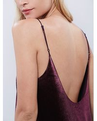 Free People - Red Intimately Womens Simply And Short Velvet Slip - Lyst