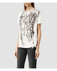 AllSaints | White Prowl Heny Tee | Lyst