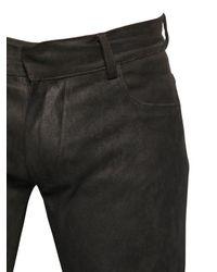 Giorgio Brato - Black Stretch Suede Pants for Men - Lyst