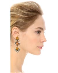 DANNIJO | Orange Dayna Earrings - Silver/crystal/italian Mustard | Lyst