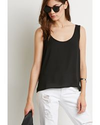 Forever 21 | Black Classic Chiffon Top | Lyst
