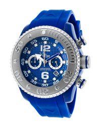 VIP Time - Men's Magnum Chrono Blue Rubber Blue-tone Dial for Men - Lyst