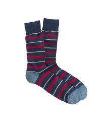 J.Crew - Blue Repp Stripe Socks for Men - Lyst