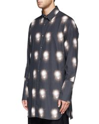 Ann Demeulemeester - Black Spotlight Print Cotton Shirt for Men - Lyst