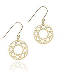 Myia Bonner | Yellow Gold Brilliant Diamond Drop Earrings | Lyst