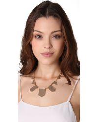 House of Harlow 1960 | Natural Station Leather Necklace | Lyst
