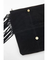 Forever 21 | Black Fringed Genuine Suede Clutch | Lyst