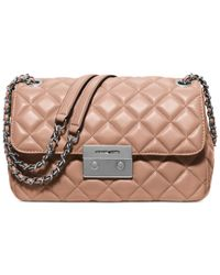 Michael Kors | Pink Michael Sloan Large Quilted Shoulder Flap | Lyst