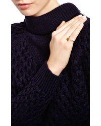 Delfina Delettrez - Metallic Gold Pearl and Enamel Bee Cuff Ring - Lyst