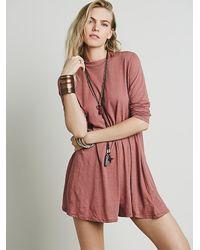 Free People - Pink Elise Dress - Lyst