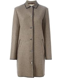 Nina Ricci - Brown Houndstooth Coat - Lyst