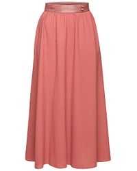 BOSS Orange - Pink Wide Midi Skirt: 'bepiumi' - Lyst