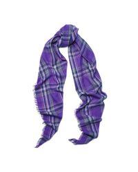 Ralph Lauren - Purple Plaid Scarf - Lyst