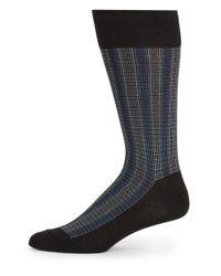 Saks Fifth Avenue | Black Vertical Striped Cotton-blend Socks for Men | Lyst