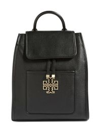 Tory Burch | Black 'britten' Drawstring Backpack | Lyst