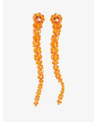 Simone Rocha - Orange Crystals Earrings - Lyst