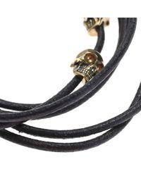 Alexander McQueen - Dark Brown Bracelet - Lyst