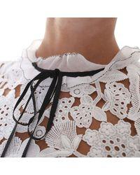 Self-Portrait - Multicolor White Lace And Cotton Short Dress - Lyst