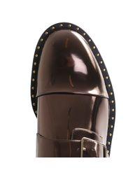 Stella McCartney - Multicolor Women's Odette Metallic Brogue Shoes In Bronze - Lyst