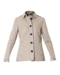 Burberry - Natural Quilted Beige Ashurst Jacket - Lyst