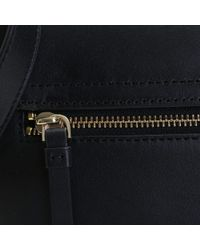 DKNY - Black Leather Messenger Bag - Lyst