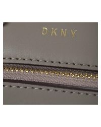 DKNY - Gray Grey Leather Bryant Park Mini Bag - Lyst