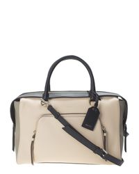 DKNY - Natural Beige Leather Greenwich Large Bag - Lyst