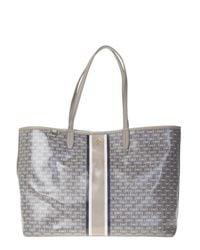 Tory Burch - Gray Grey Leather Gemini Link Bag - Lyst
