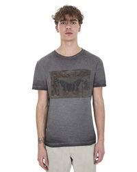 Valentino - Gray Grey Cotton Cuban Boxes T-shirt for Men - Lyst