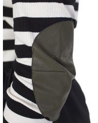 MM6 by Maison Martin Margiela - Black And White Stretch Cotton Hypnotic Stripe - Lyst