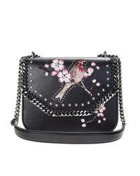 Stella McCartney | Embroidered Birt Black Eco-leather Falabella Bag | Lyst