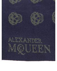 Alexander McQueen | Cotton Green Short Socks With Skulls for Men | Lyst