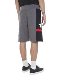 Givenchy - Gray Grey Cotton Shorts With Contrasting Side Bands for Men - Lyst