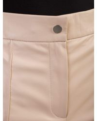 DROMe - Pink Leather Trousers - Lyst