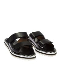 Givenchy - Black Leather Rockert Sandals - Lyst