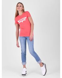 DSquared² - Pink Printed Cotton T-shirt - Lyst