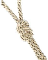 Rosantica - Metallic Beaded And Tassel Necklace - Lyst