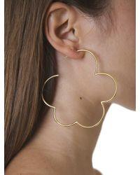 Simone Rocha | Metallic Gold Plated Silver Earrings | Lyst