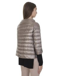 Herno - Multicolor Taupe Nylon Ultralight Padded Jacket - Lyst