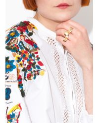 Valentino | White Top With Multicolor Lace | Lyst