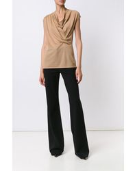 Derek Lam | Brown Asymmetrical Drape Sweater | Lyst