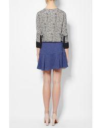 Derek Lam - Blue Flared Skirt - Lyst